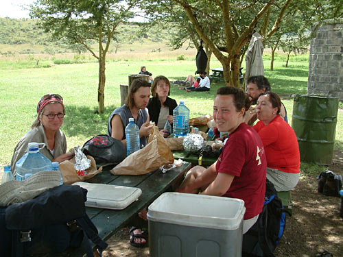 Lunch am Fuss des Mount Longonot